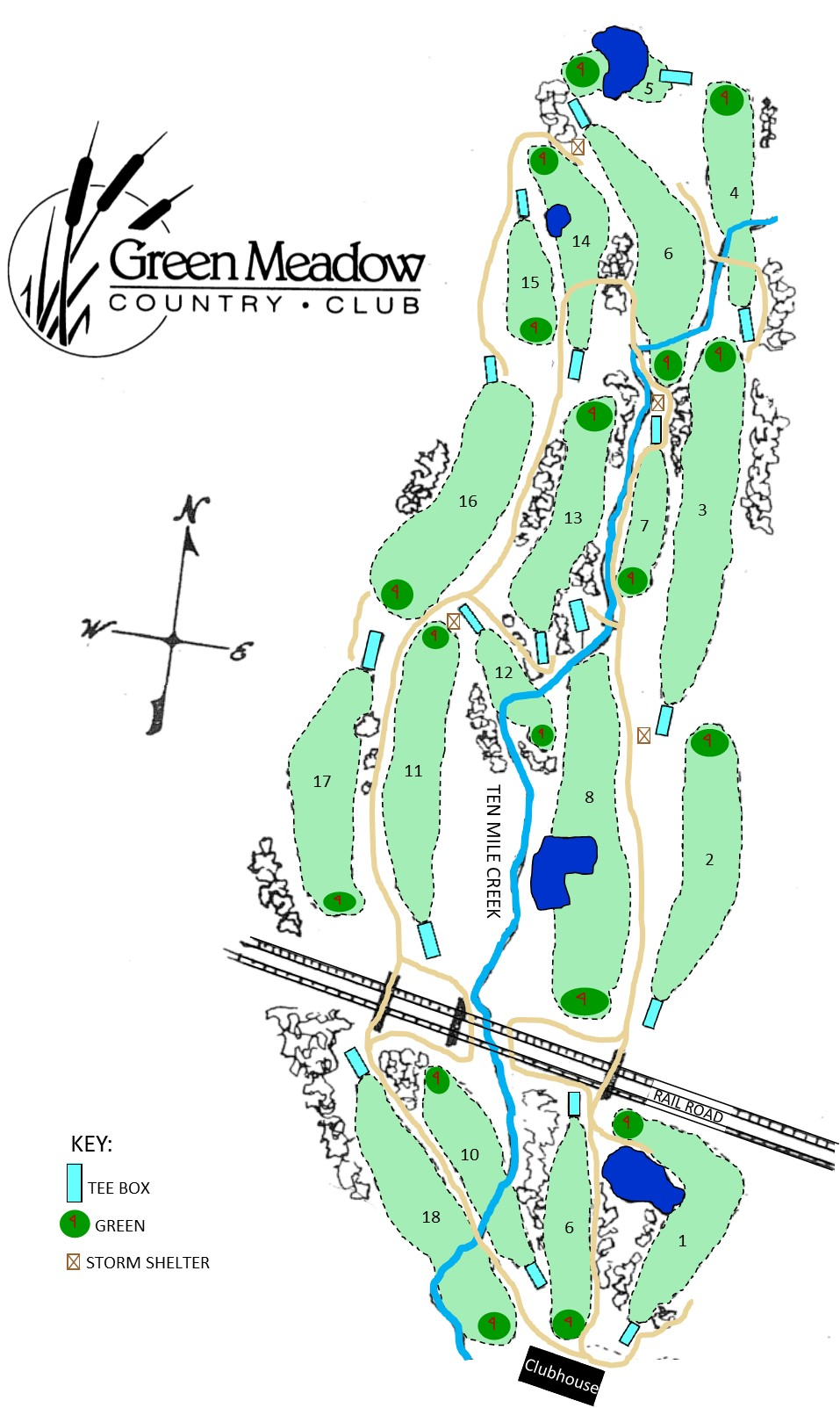 Course Map with Logo